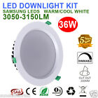 1/6X36W WHITE SMD DIMMABLE LED DOWNLIGHTS KIT IP44 WARM OR COOL WHITE FIVE YEAR
