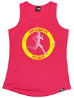 RUN TO BURN OFF THE CRAZY WOMENS DRY FIT VEST singlet training birthday running