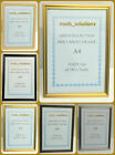 2 X NEW A4 CERTIFICATE PICTURE PHOTO WOODEN EFFECT FRAME SILVER/GOLD/OAK/BLACK