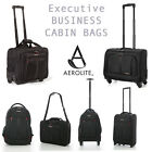 Aerolite Executive Business Mobile Office Laptop Cabin Hand 2 & 4 Wheel Luggage