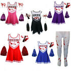 CHEERLEADER FANCY DRESS COSTUME OUTFIT UNIFORM COSTUME WITH POM POMS HIGH SCHOOL