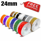 """24mm 1"""" PIN STRIPE PinStriping Body Trim TAPE Decal Stickers for Car Motorcycles"""