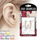 NEW 1 Pair of Ear Crawlers Ear Piercing Studs Assorted Designs 20GA 0.8mm