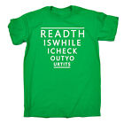 Read This While I Check MENS T SHIRT birthday funny rude naughty adult gift