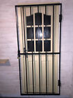 Steel-security-door-gate-grill-2m-x-1m powder coated white-black