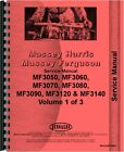 Massey Ferguson 3050 3060 3070 3090 3120 3140 Tractor Chassis Service Manual