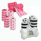 12 Rolls Pet Dog Cat Poop Scoopers Waste Bags w/ Dispenser Holder Total 240 bags
