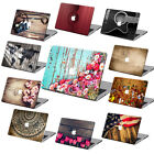 """Hard Rubberized Wood Painting Top Case Bottom Shell For Macbook Pro Air 11 13""""15"""