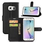 PU Leather Flip Wallet Book Case Cover Pouch For Various Samsung Galaxy Phones