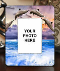 "3.5""x5"" PHOTO FRAME - DOLPHIN 1 Sea Ocean Beach Sand Shore Dolphins Gift"