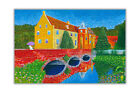 Oil Painting Re-Print Castle Senden Germany Art Poster Prints Wall Pictures