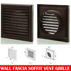 """Brown Extractor Fan Wall Fixed Louvre Grill Grille  Ventilation 4"""" , 5"""" , 6"""""""
