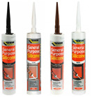 General Purpose Silicone C3 Cartridge 270ml Sealant Clear White Brown Black Grey