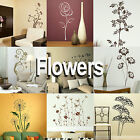 Flower Wall Stickers! Giant Home Transfers Graphics Floral Decal Decor Stencils