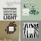 Light Switch Covers Decals Wall Stickers Vinyl Art Transfer Interior Home Decor