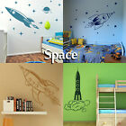 Space Wall Sticker Transfer Graphic Decal Decor Art Stencil Boys Rocket Stickers