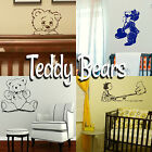 Teddy Bear Wall Stickers! Home Transfer Graphic Kids Decals Cute Decor Stencil