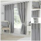 Ready Made Grey Curtains Paisley Panel Designer Eyelet Lined Contemporary Living