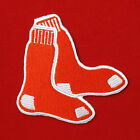 "*3.1/8""X1p. boston red sox twin socks circle embroidered iron on sew patch badge"