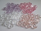 6 Lovely Clear Cut Buttons 15mm Two Hole Transparent Assorted Colours