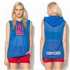 CONVERSE LADIES BLUE MESH TOP WITH HOOD SIZE: S-M-L