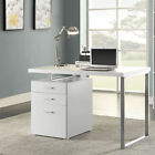 Coaster Reversible Set-Up Wooden and Metal Writing Desk with 2 Office Supply