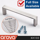 Cupboard Handle Square Pulls Kitchen Cabinet Door Drawer Stainless Steel Finish