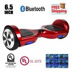 """UL 2272 Certified Bluetooth Hoverboard 6.5"""" Self Balancing Wheel Electric Red"""