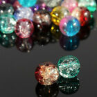 The Light Of The Rainbow Mixed Crystal Crack Glass Round Spacer Beads Charm