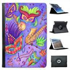 Carnival Party Time With Saxophone Masks & Music Leather Case For iPad Mini