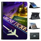 Ready For Travels With Airline Ticket & Passport Leather Case For iPad Mini