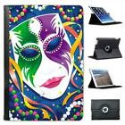 Carnival Bead & Mask With Green Purple Design Leather Case For iPad Mini