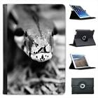 Snake's Head Black & White Folio Leather Case For iPad Mini & Retina