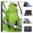 Green Parrot Folio Leather Case For iPad Mini & Retina