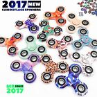Hand Spinner Multicolor Camouflage Tri-Spinner Fidget Toy for Stress Anxiety UK