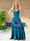 Womens Halter Neck Maxi Dress Ethnic Boho Hippie Festival Free Sizes 8-12, 12-16