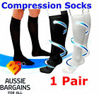 1 Pair Compression Miracle Socks Flight Travel, Varicose Veins, Aching Feet, DVT