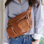 CASUAL TRAVEL BEGAN WAIST CROSSBODY BAG HIPSACK PURSE REAL SHEEPSKIN LEATHER