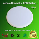 LED SLIM OYSTER CEILING LIGHT 18W 300mm / 28W 400mm  DIMMABLE IP54 SAA AU Stock