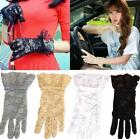 5 Colors Women Bridal Evening Wedding Party Prom Driving Costume Lace Gloves ✿