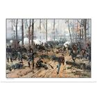 Poster Print Wall Art entitled This Civil War painting shows Union and