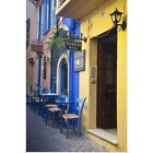 Poster Print Wall Art entitled Greece, Crete, Chania, Old Town With Doorways And