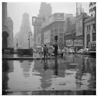 Poster Print Wall Art entitled A rainy day in Times Square, New York City, 1943