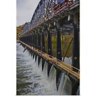 Poster Print Wall Art entitled Sailing down The Erie Canel/ Mohark River taking