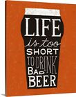 Solid-Faced Canvas Print Wall Art entitled Craft Beer I
