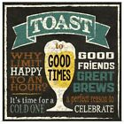 Toast to Good Times Poster Art Print, Beer Home Decor