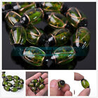 Wholesale 24x14mm Olive Green Oval Shape Lampwork Glass Loose Beads