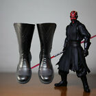 NEW Darth Maul Star Wars Cosplay Black Shoes Boots Custom Made H.039 $55.67 USD