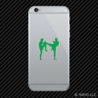 (2x) Muay Thai Kickboxing Cell Phone Sticker Mobile mma many colors