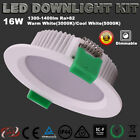 NEW 16W DIMMABLE LED DOWNLIGHT KITS WHITE WARM OR COOL WHITE FIVE WARRANTY IC-F